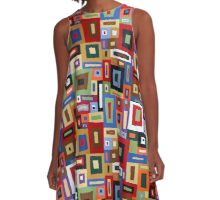 Colored Blocks A-Line Dress