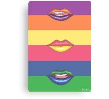 Double Color Lips Canvas Print