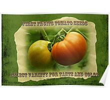 First Fruits Tomato Seeds Poster