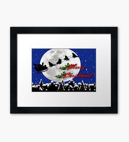 santa sleigh Framed Print