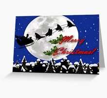santa sleigh Greeting Card