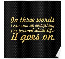 In three words... Inspirational Quote Poster