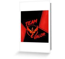 Team Valor - Pokemon Go Greeting Card