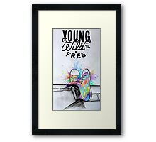 Watercolour Hightops Hand Painted Framed Print