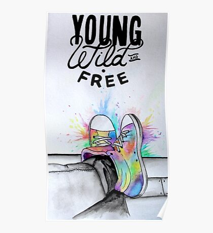 Watercolour Hightops Hand Painted Poster
