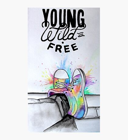 Watercolour Hightops Hand Painted Photographic Print