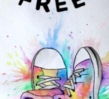Watercolour Hightops Hand Painted Sticker
