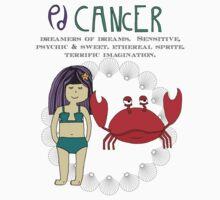 Children's Zodiac - Cancer Girl Kids Tee