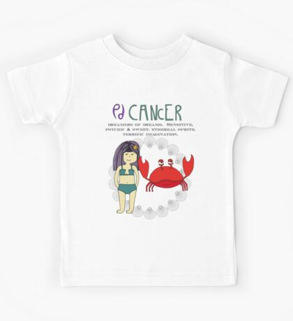 Children's Zodiac - Cancer Girl Kids Tee