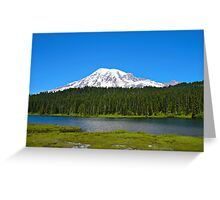 Mt. Rainier/Reflection Lakes Greeting Card