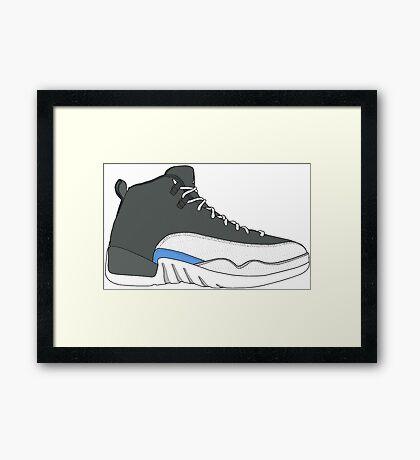 """Air Jordan XII (12) """"Wolf Grey"""" Framed Print"""