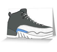 "Air Jordan XII (12) ""Wolf Grey"" Greeting Card"