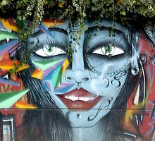 Graffiti With Greenery Hairdo by phil decocco
