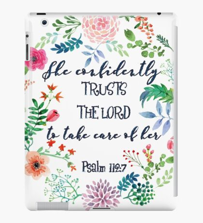 Psalm 112:7 iPad Case/Skin