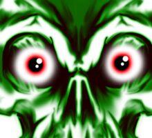 Evil Vampire Skull Sticker
