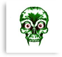Evil Vampire Skull Canvas Print