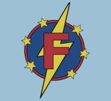 My Cute Little Super Hero - Letter F Baby Tee