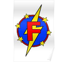 My Cute Little Super Hero - Letter F Poster