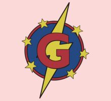 My Cute Little Super Hero - Letter G One Piece - Short Sleeve