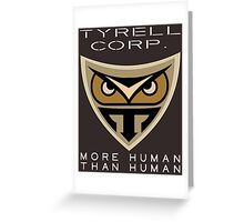 Blade Runner Tyrell Corp logo Greeting Card