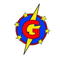 My Cute Little Super Hero - Letter G Photographic Print