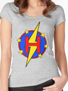 My Cute Little Super Hero - Letter H Women's Fitted Scoop T-Shirt