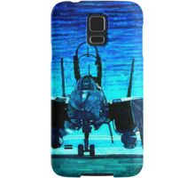 moonlight mission-an f14 tomcat fighter pilot walks to his plane Samsung Galaxy Case/Skin