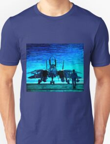 moonlight mission-an f14 tomcat fighter pilot walks to his plane T-Shirt