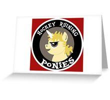 Hockey Ruining Ponies: Uni-Kane Greeting Card