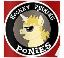 Hockey Ruining Ponies: Uni-Kane Poster