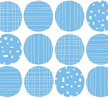 Sky blue circles by Morag Anderson