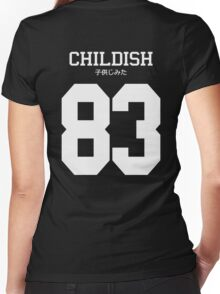 Childish Jersey Women's Fitted V-Neck T-Shirt