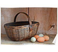 My Grandma's Egg Basket Poster