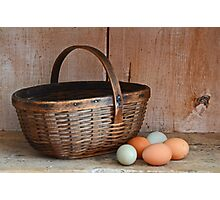 My Grandma's Egg Basket Photographic Print