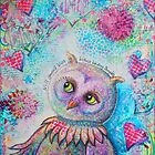 'Will Yourself Wise' Owl Fine Art Reproduction by Tanya Cole