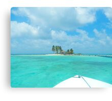 Goff's Caye, Belize As Seen From Boat Canvas Print