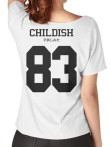 Childish Jersey: Black Font Women's Relaxed Fit T-Shirt