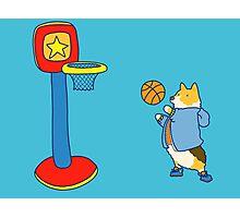 Corgi's are Basketball Stars! Photographic Print