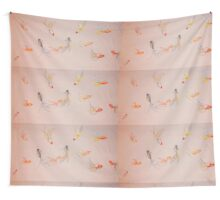 Goldfish Pond Wall Tapestry