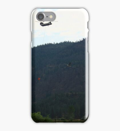 Montana Firefighting Helicopter and Blue Heron iPhone Case/Skin