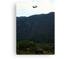 Montana Firefighting Helicopter and Blue Heron Canvas Print