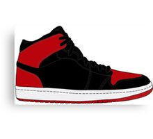 "Air Jordan I (1) ""Bred"" Canvas Print"