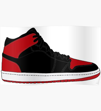 """Air Jordan I (1) """"Bred"""" Poster"""