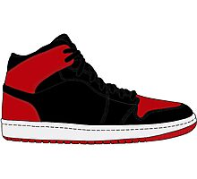 "Air Jordan I (1) ""Bred"" Photographic Print"