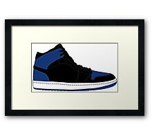 "Air Jordan I (1) ""Royal Blue"" Framed Print"