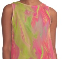 Pink and Green Abstract Palette Knife Painting Contrast Tank