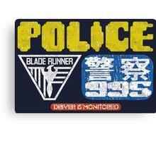 Blade Runner Police Canvas Print
