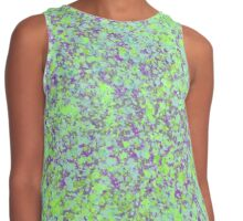 Green and Purple Splatter Painting Contrast Tank