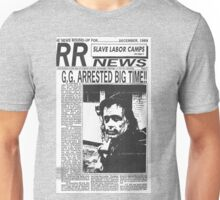 GG Allin Newspaper Arrested Unisex T-Shirt