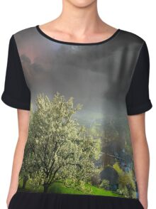 Blossom Trees Women's Chiffon Top